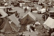 Bonus Army encampment in July 1932. By Theodor Horydczak, via the Library of Congress.