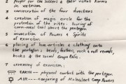 Handbill written by Ed Sanders with instructions for Pentagon exorcism. (Click to enlarge.)