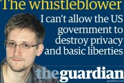 Edward Snowden featured in the Guardian.