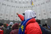 Protester at a pro-EU rally in Kiev on November 24. (Flickr/Ivan Bandura)